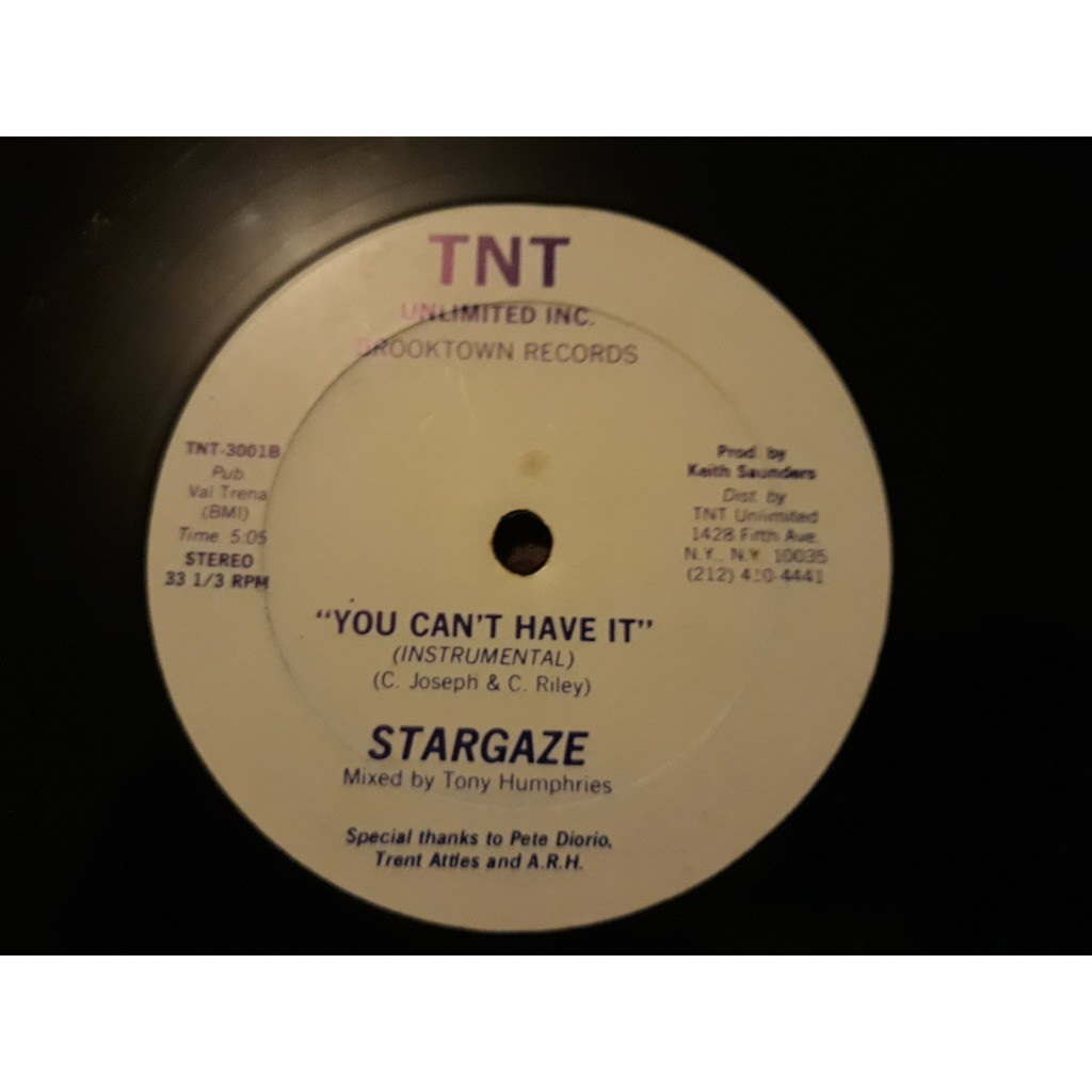 Stargaze (2) - You Can't Have It (12) 1982 Stargaze (2) - You Can't Have It (12) 1982