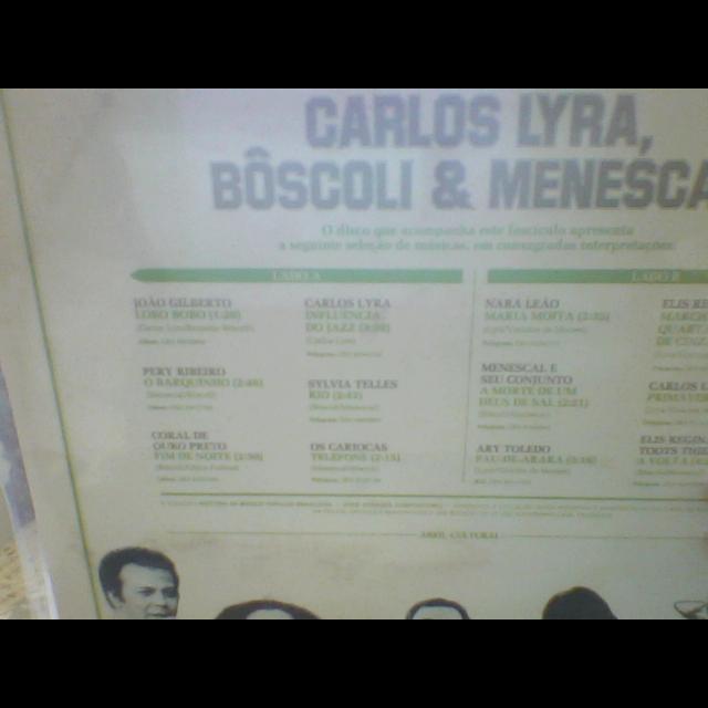 CARLOS LYRA / RONALDO BÓSCOLI / MENESCAL Carlos LYRA, BÔSCOLI & MENESCAL