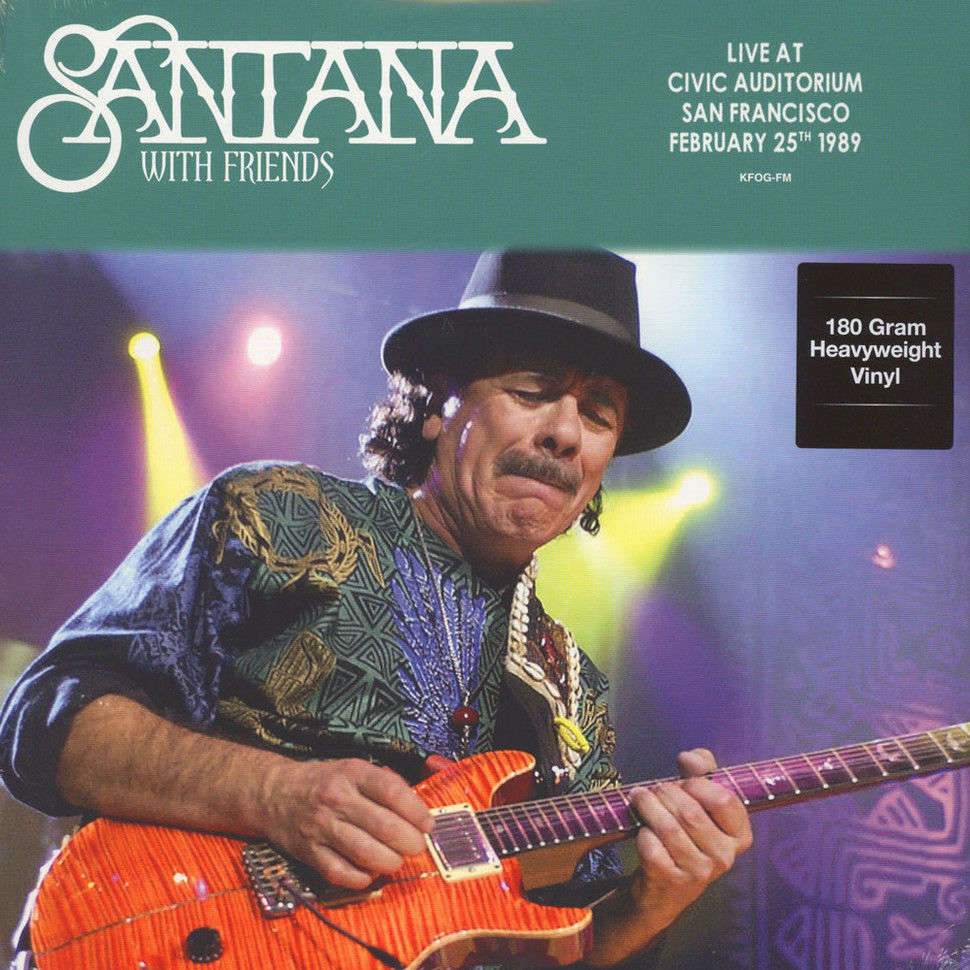 Santana With Friends Live At Civic Auditorium San Francisco February 25th 1989 (lp)