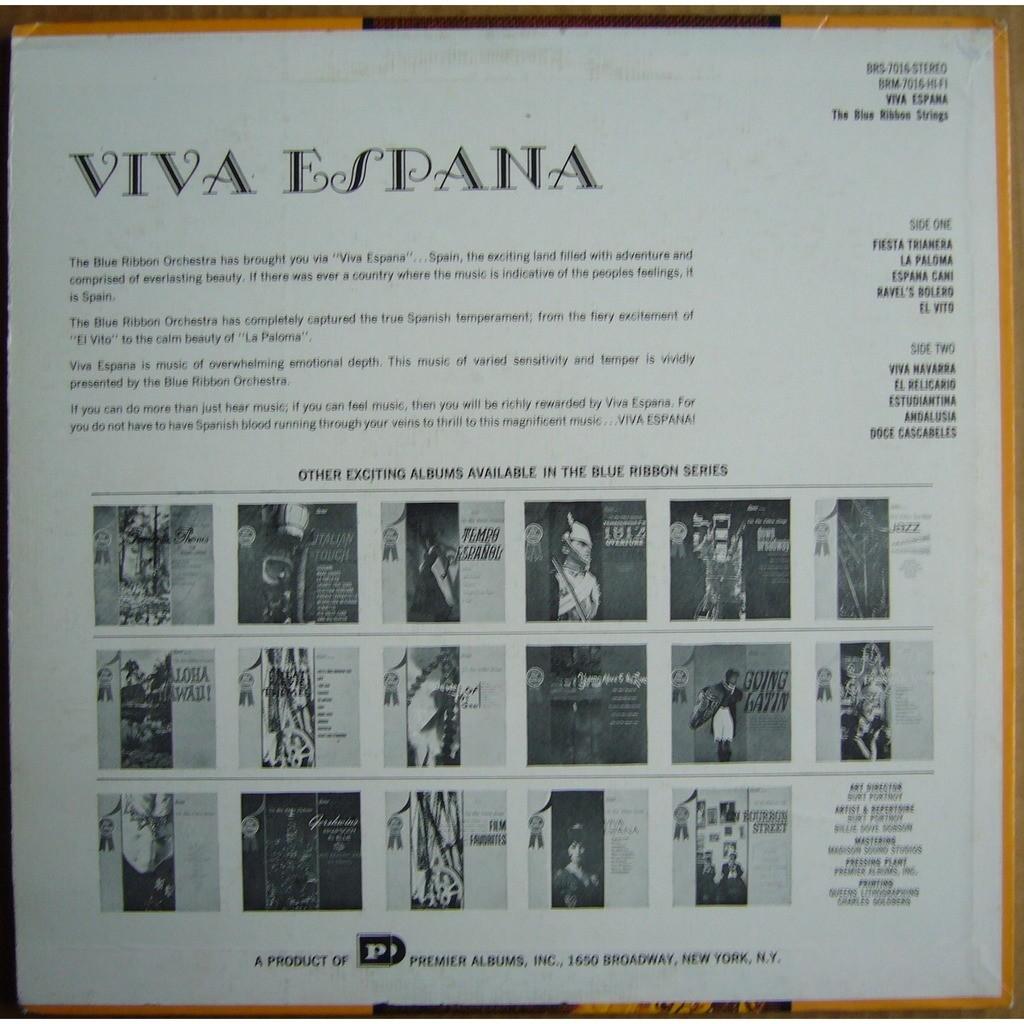 THE BLUE RIBBON ORCHESTRA Viva Espana USA BLUE RIBBON BRS-7016 NM