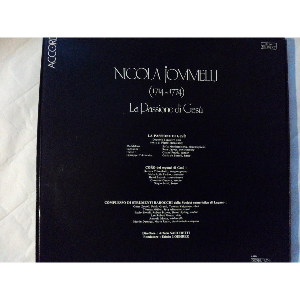 NICOLA JOMMELLI ( divers) NICOLA JOMMELLI LA PASSIONE DI GESU