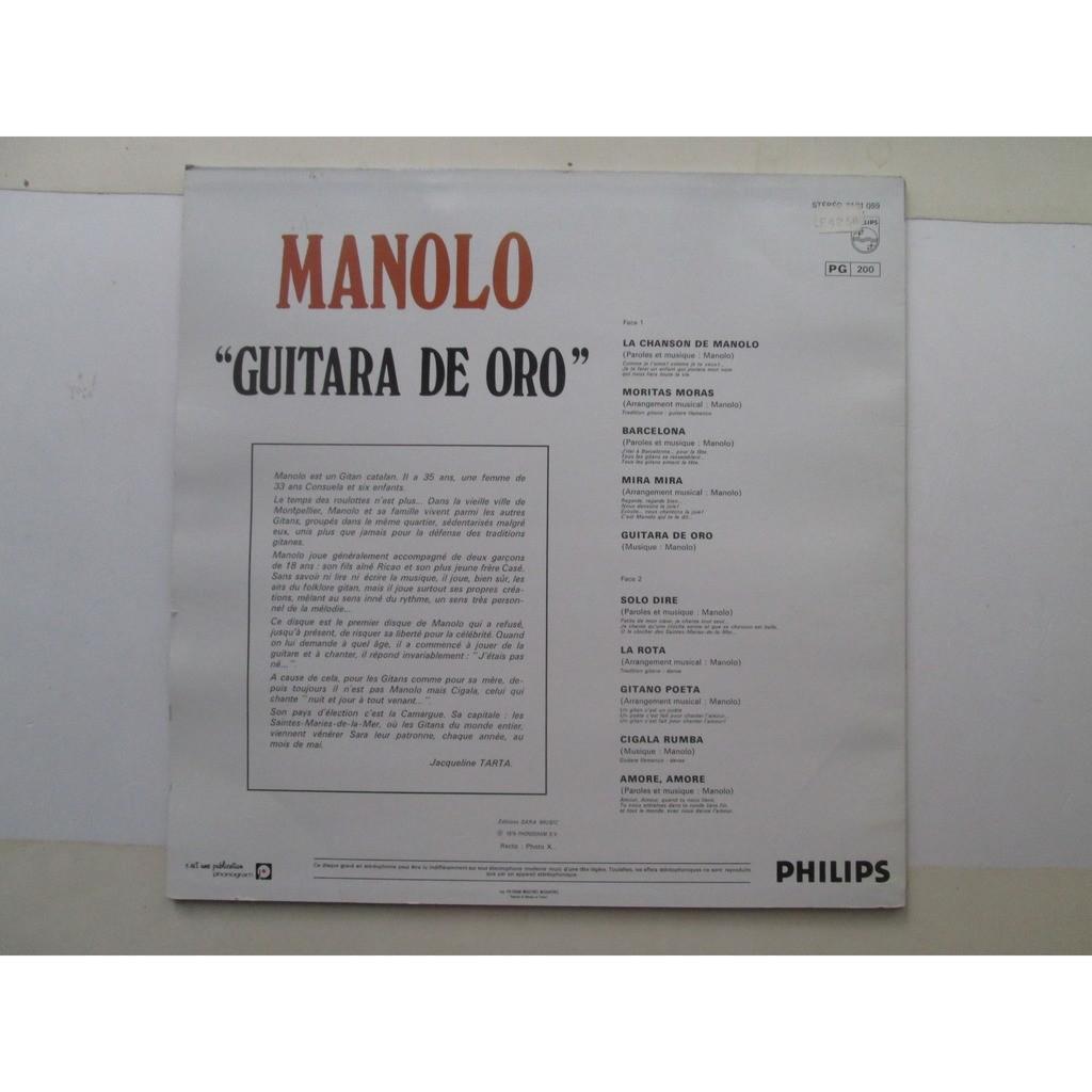MANOLO GUITARA DE ORO