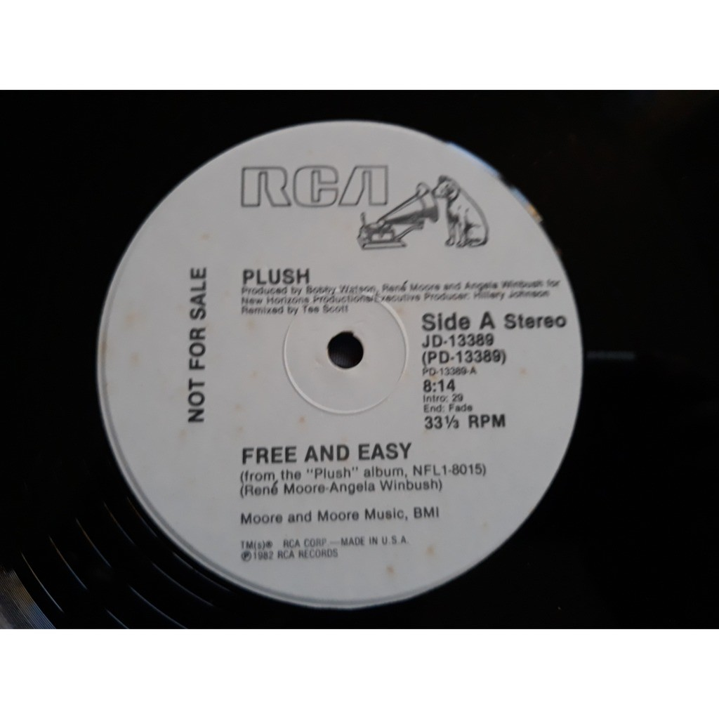 Plush - Free And Easy (12, Promo) Plush - Free And Easy (12, Promo)