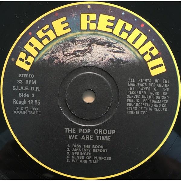 The Pop Group We Are Time (Italian 1980 original Ltd 10-trk LP on base Records lbl!!)