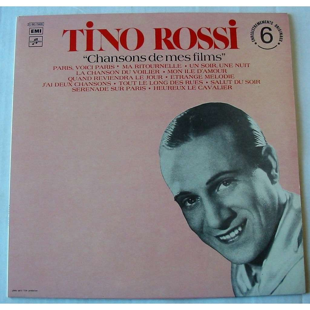 TINO ROSSI CHANSONS DE MES FILMS