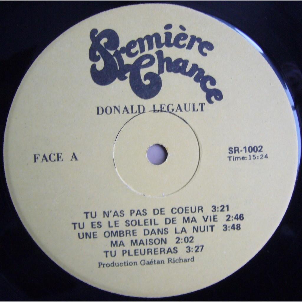 DONALD LAGAULT Donald Lagault CANADA PREMIERE CHANCE SR-1002 NM