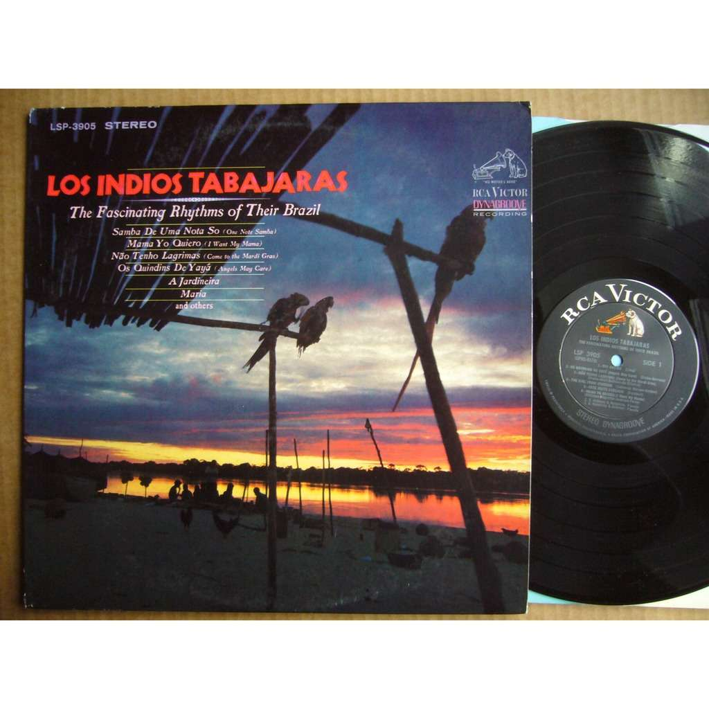 LOS INDIOS TABAJARAS The Fascinating Rhythms Of Their Brazil USA RCA VICTOR LSP-3905 MINT