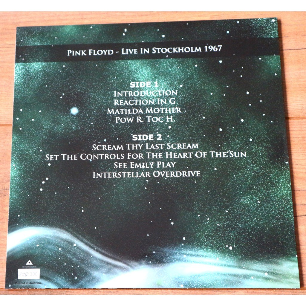 Pink Floyd Live In Sweden - Dark Green Vinyl / limited edition of 300 numbered copies, nr. 178/300
