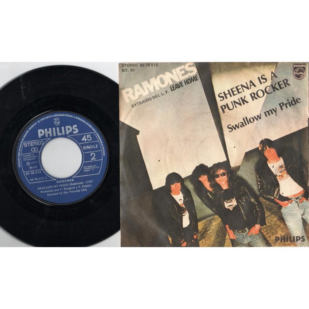 ramones Sheena is a punk rocker (spanish 1977 2-trk 7single absolutely unique 'leave album' artwork full ps)