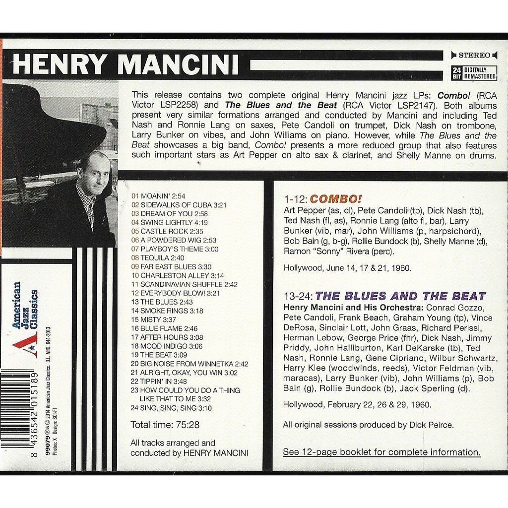 MANCINI, HENRY COMBO!/BLUES AND THE BEAT