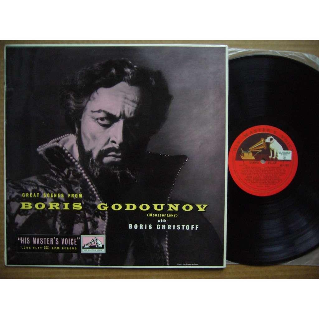 BORIS CHRISTOFF Great Scenes from Boris Godunov UK HMV ALP 1323 NM