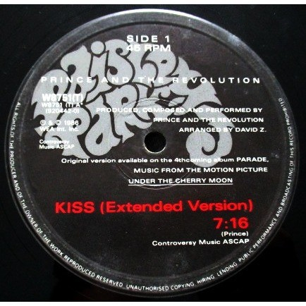 prince and the revolution kiss / or $ (limited poster)