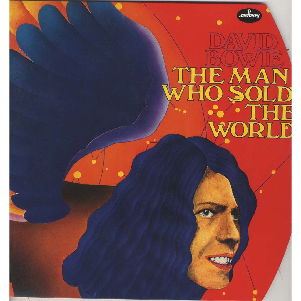 David Bowie The Man Who Sold The World (German Round Cover) Red