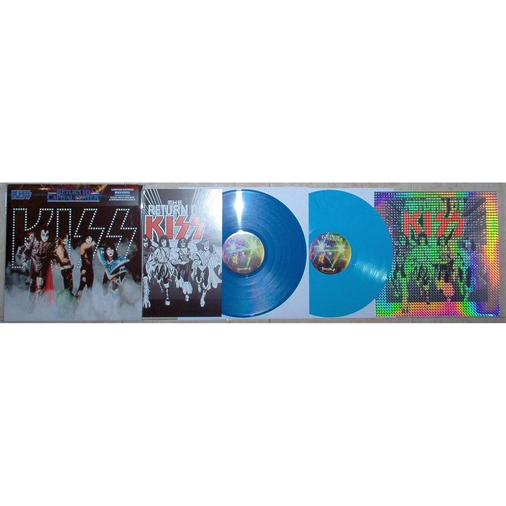 KISS Return To Capital Center (Largo Maryland US 08.07.1979) (Ltd 100 copies 2lp BLU wax+book+sticker)