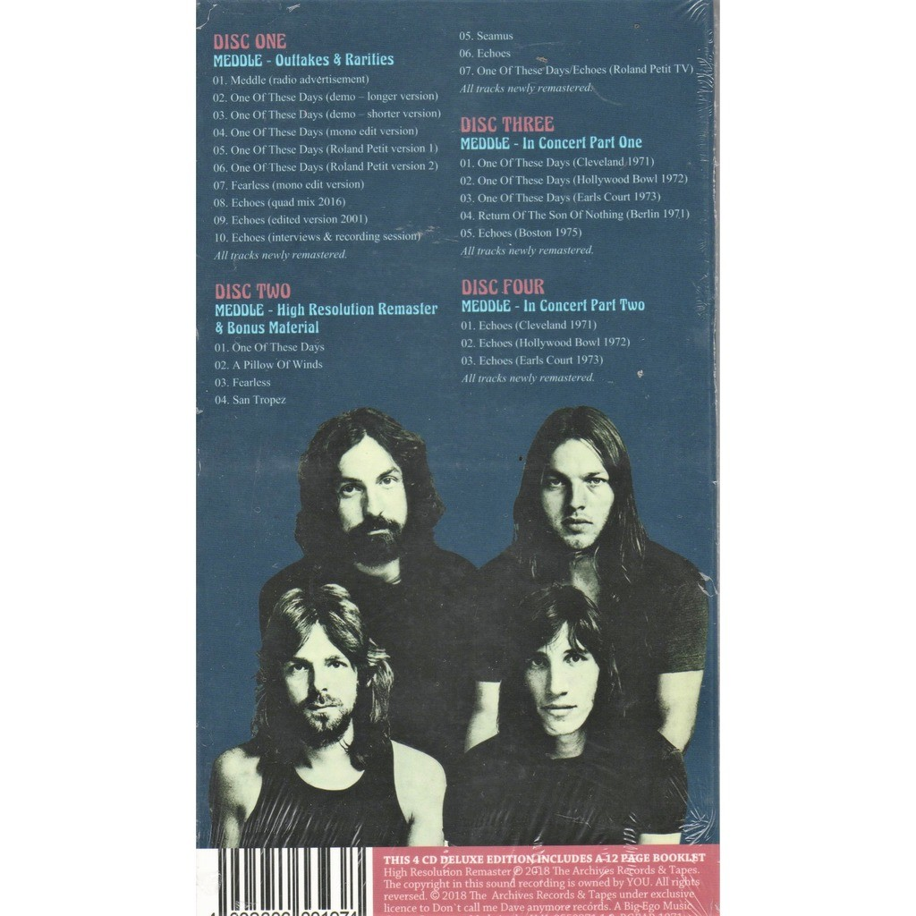 Pink Floyd Meddle - The High Resolution Remasters (Ltd 300 no'd copies 4CD box + booklet!)