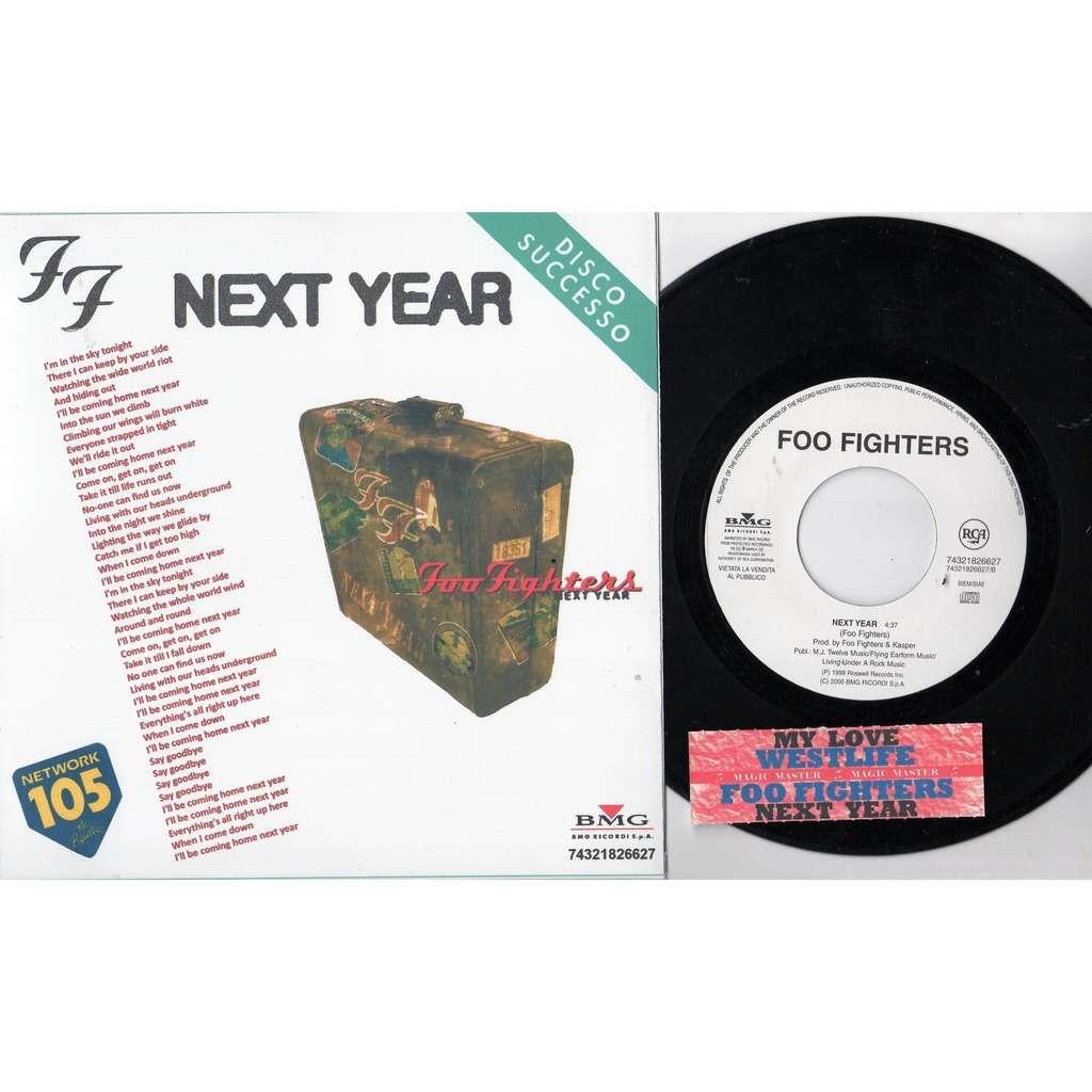 Nirvana / Foo Fighters Next Year (Italian 2000 DJ Radio 1-trk w/l 7single promo absolutely 'SPER' network pro ps + insert!)