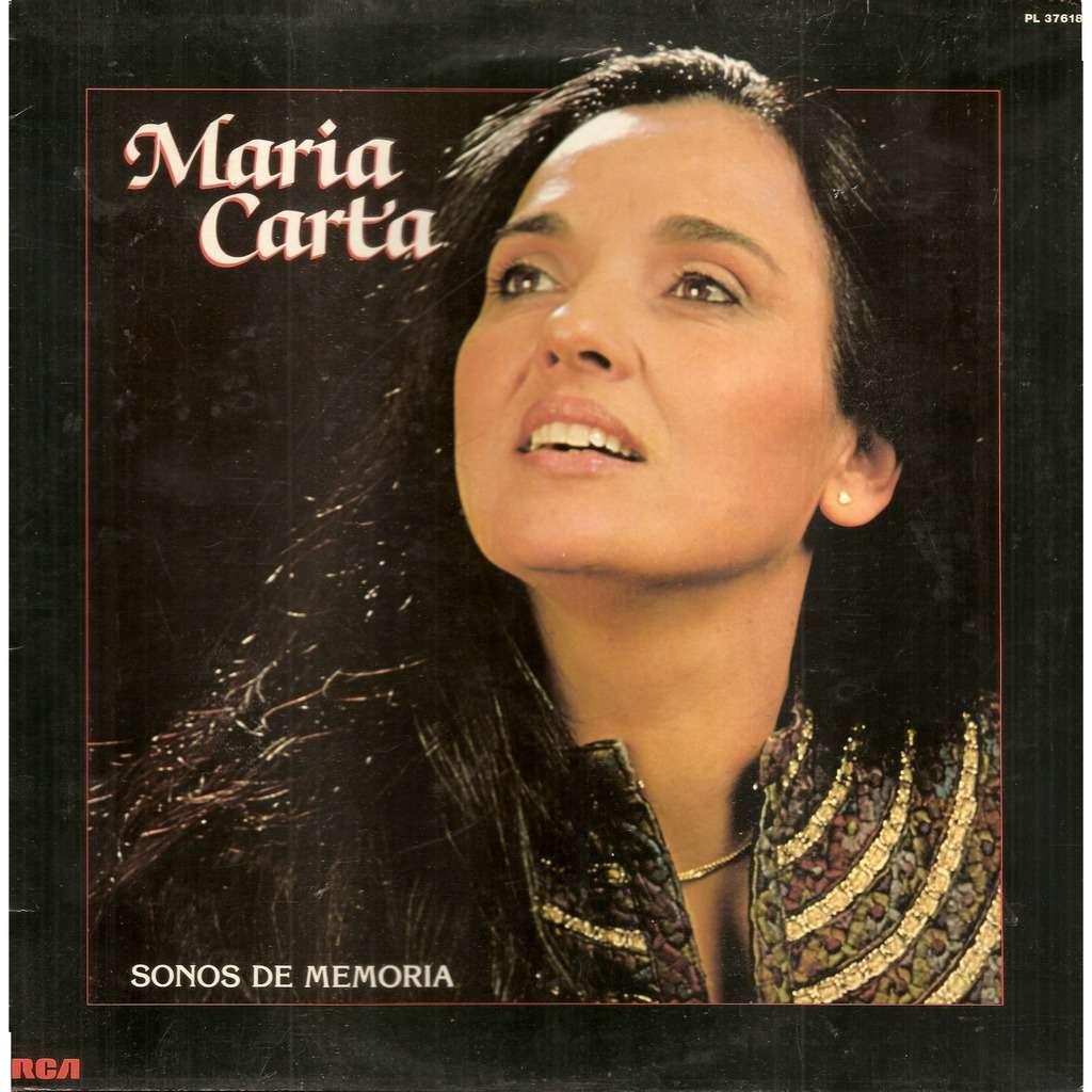 Maria CARTA Sonos de Memoria