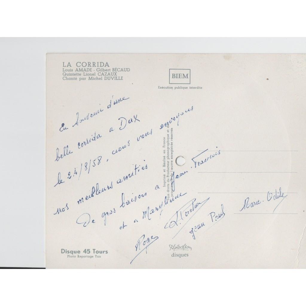 PHOTOCHROM LA CORRIDA(L.AMADE-G.BÉCAUD)