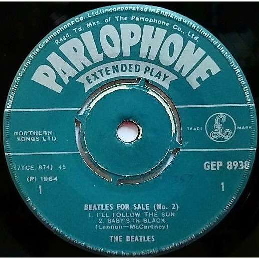 THE BEATLES Beatles FOR SALE (No. 2) (India 1965 original 4-trk 7ep on Parlophone lbl)