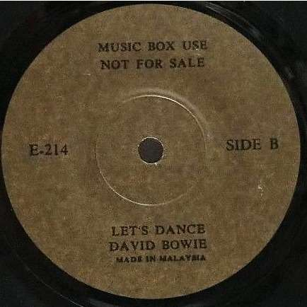 David Bowie Let's Dance (Malaysia 1983 1-trk 7single promo)