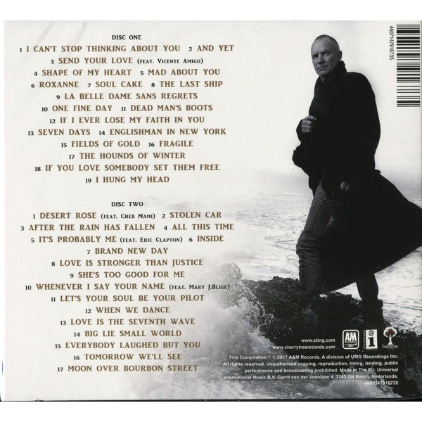 STING GREATEST HITS 2 CD Digipak (2017 Edition, Including tracks from 57th & 9th) Factory-Sealed