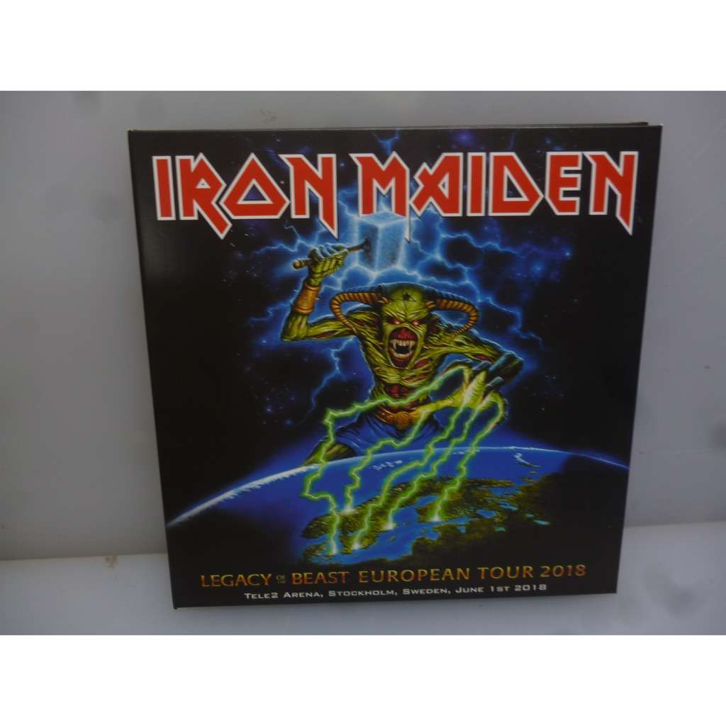 Iron Maiden Legacy Of The Beast European Tour 2018. Stockholm Sweden 2018. EU 2018 2CD Digipack.