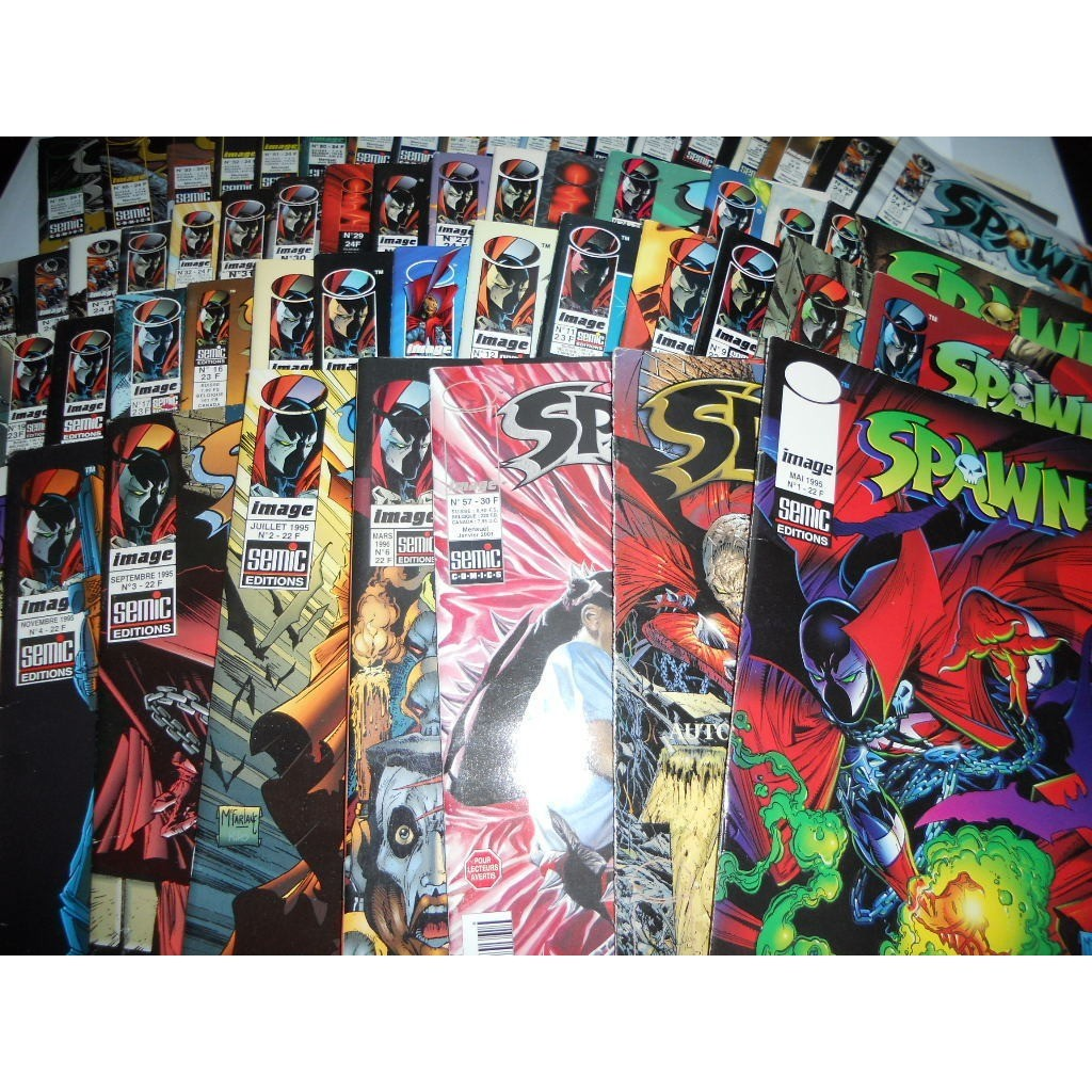 SPAWN LOT DE 56 BD + LE SUPLEMENT DU 57 DU N°1 AU SPAWN LOT DE 56 BD + LE SUPLEMENT DU 57 DU N°1 AU N°57