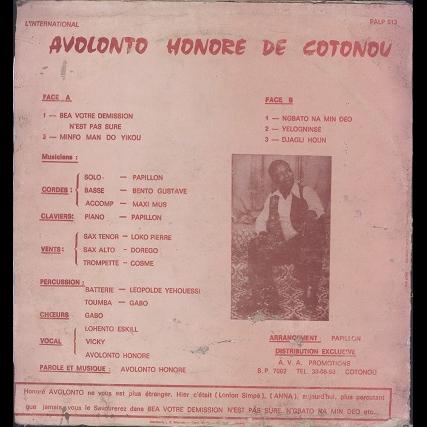 Avolonto honoré, Poly-Rythmo de Cotonou bea votre demission n'est pas sure
