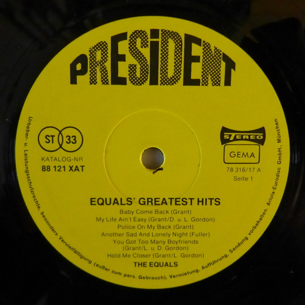THE EQUALS GREATEST HITS
