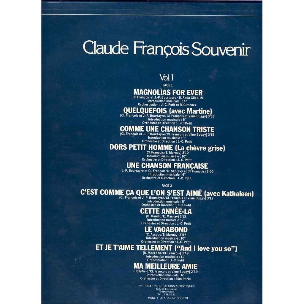Claude Francois Vol1 Magnolias for ever / une chanson Francaise / Cette année la / Ma meilleure amie
