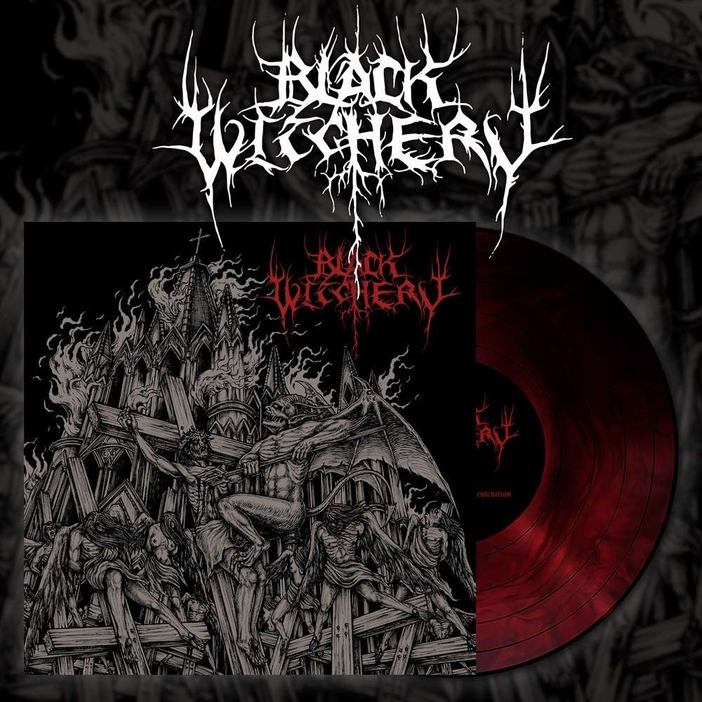 BLACK WITCHERY Inferno Of Sacred Destruction. Red Galaxy Vinyl