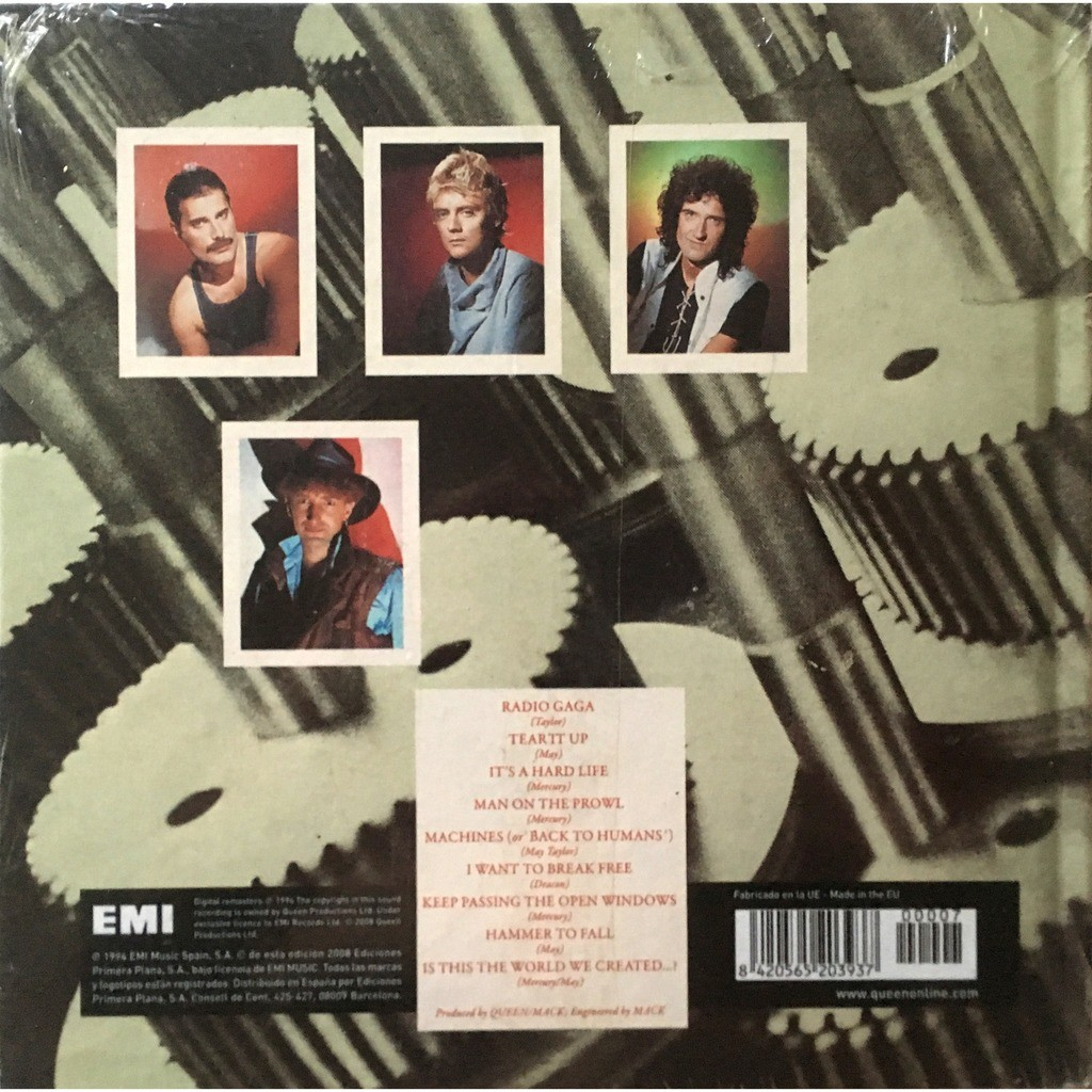 QUEEN - THE WORKS (SEALED RARE SP. PRESSING 1 CD HOUSED IN A 7 X 7 CARDBOARD BOX WITH BOOK)