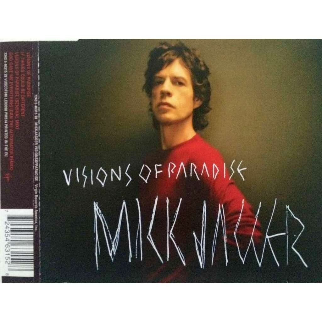ROLLING STONES / MICK JAGGER - VISIONS OF PARADISE (EURO PRESSING 4 TRK 1 MAXI-CD)