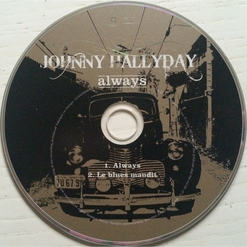 JOHNNY HALLYDAY - ALWAYS (FR. PRESSING 2 TRK 1 MAXI-CD CARD SLEEVE)