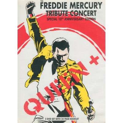VARIOUS ARTISTS / QUEEN - THE FREDDIE MERCURY TRIB (EURO PRESSING 2 DVD's + 24 PAGES BOOK)