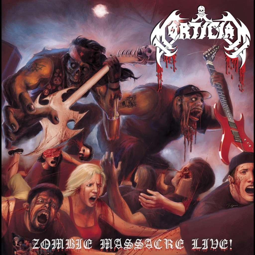 MORTICIAN Zombie Massacre Live. Black Vinyl