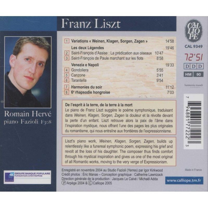 Liszt, Franz Oeuvres pour Piano / Romain Hervé