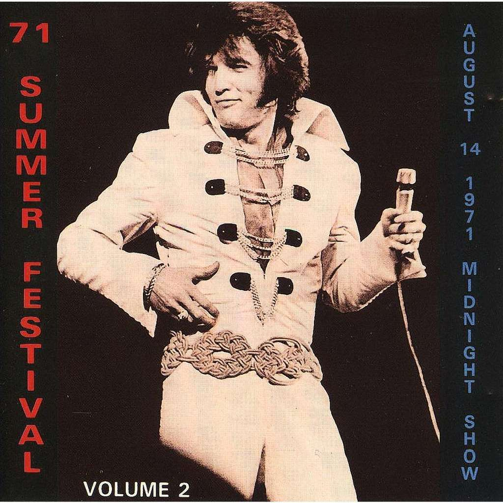 elvis presley 1 cd 1971 summer festival vol.2 cd 14/8/71 las vegas midnight show