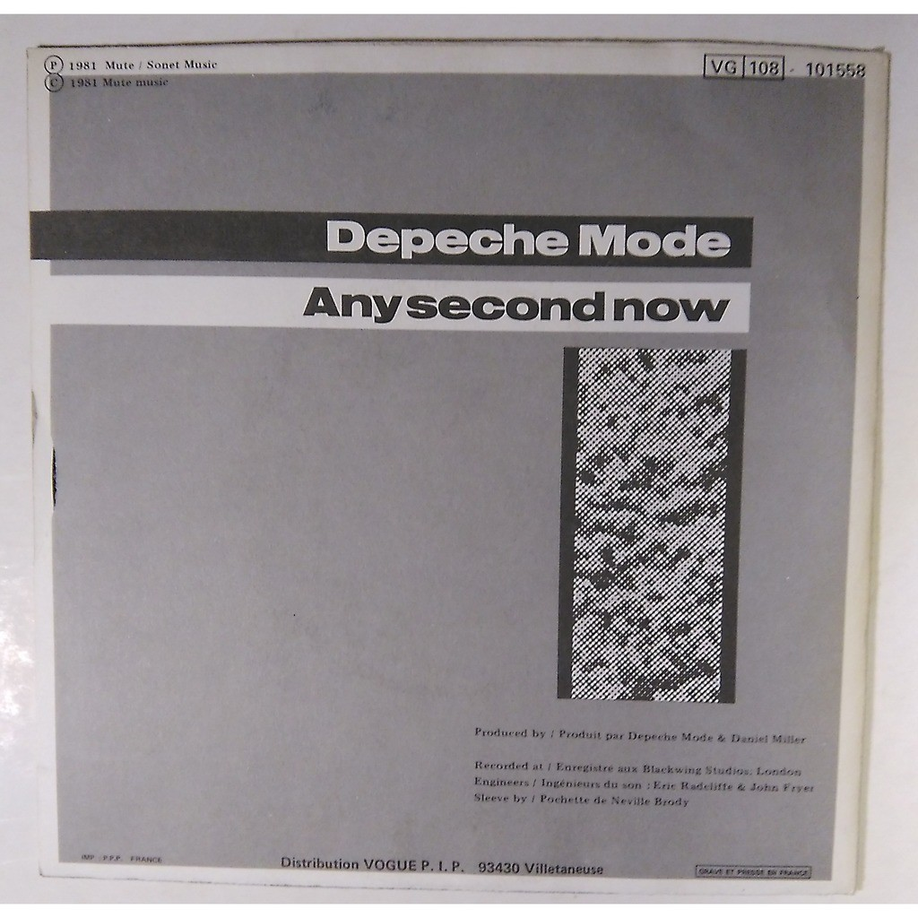 depeche mode just can't get enough - any second now