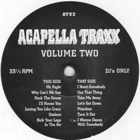 Acapella Traxx Volume Two