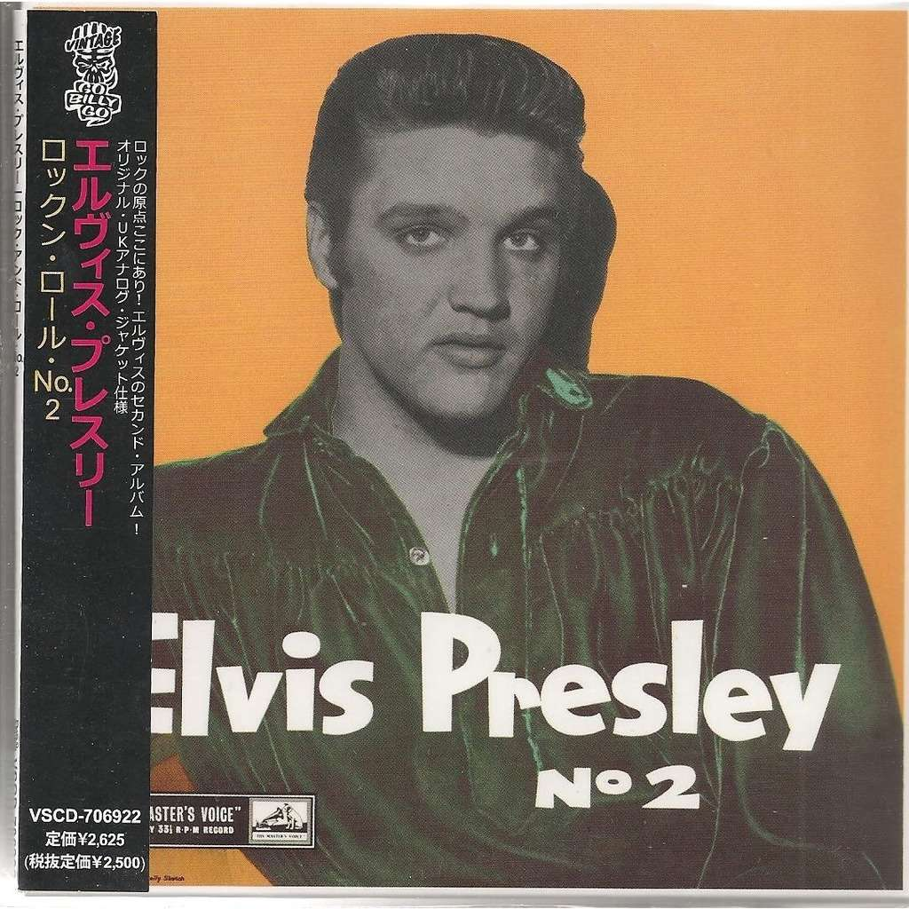 elvis presley 1 cd japan / japon hmv rock'n'roll n°2 mini cd lp replica w/obi