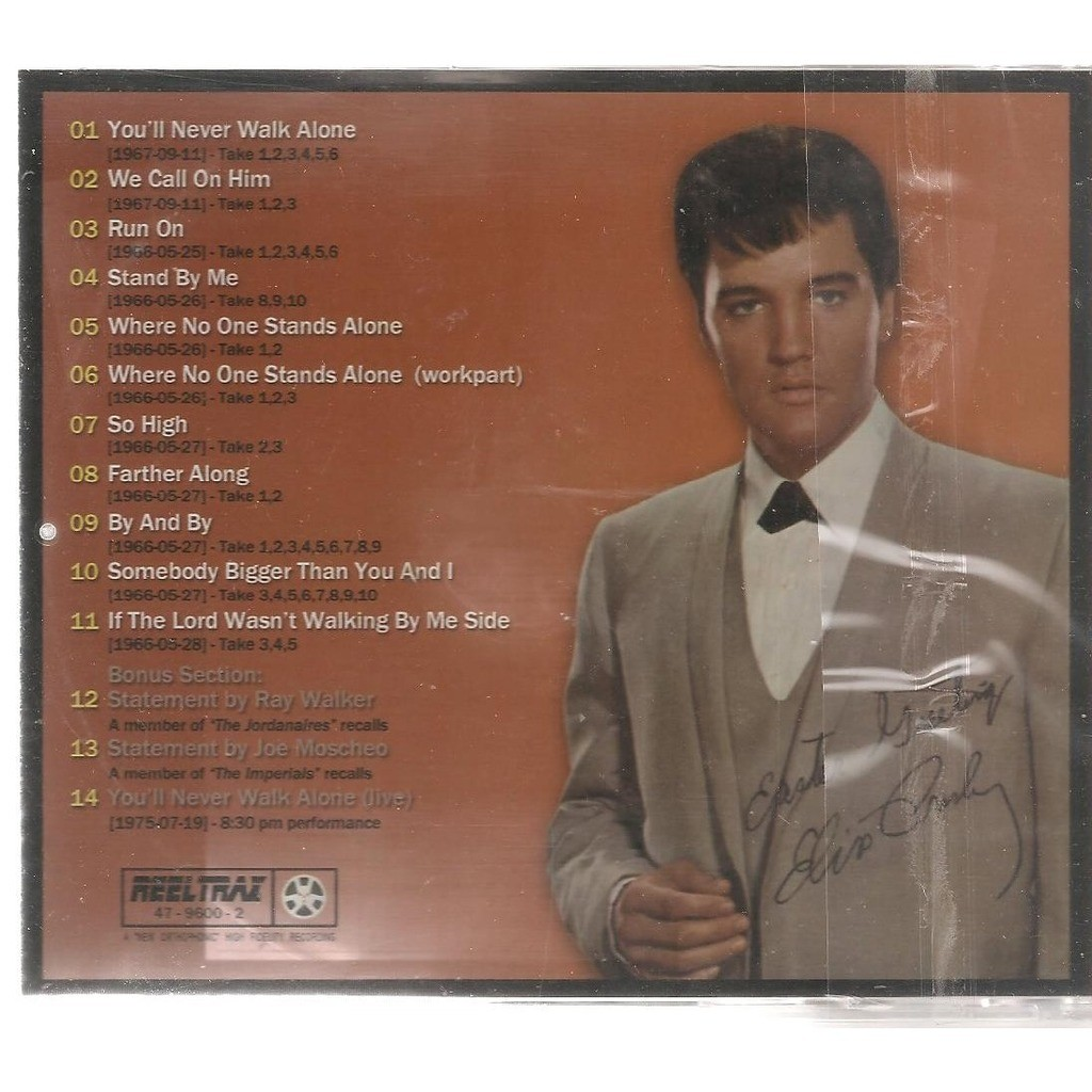 elvis presley 1 cd you'll never walk alone (2nd pict.sleeve)