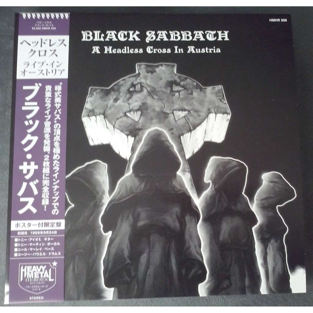 Black Sabbath A Headless Cross In Austria (2xlp) Ltd Edit Gatefold Sleeve + Poster -Jap
