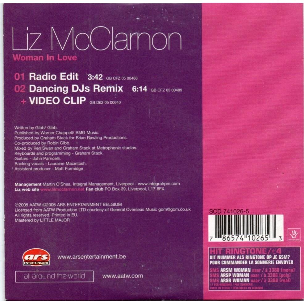 liz mc clarnon woman in love