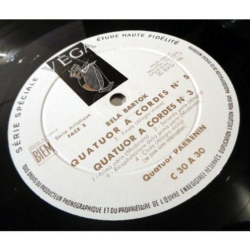 QUATUOR PARRENIN BARTOK Quatuors a cordes n°3 & 5