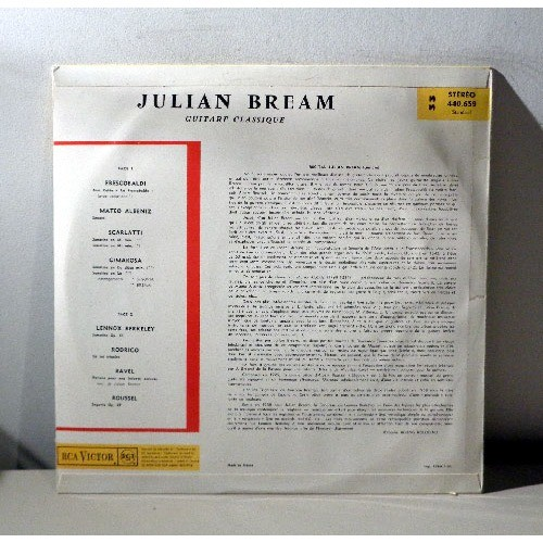 JULIAN BREAM Récital de guitare classique RAVEL ROUSSEL ALBENIZ