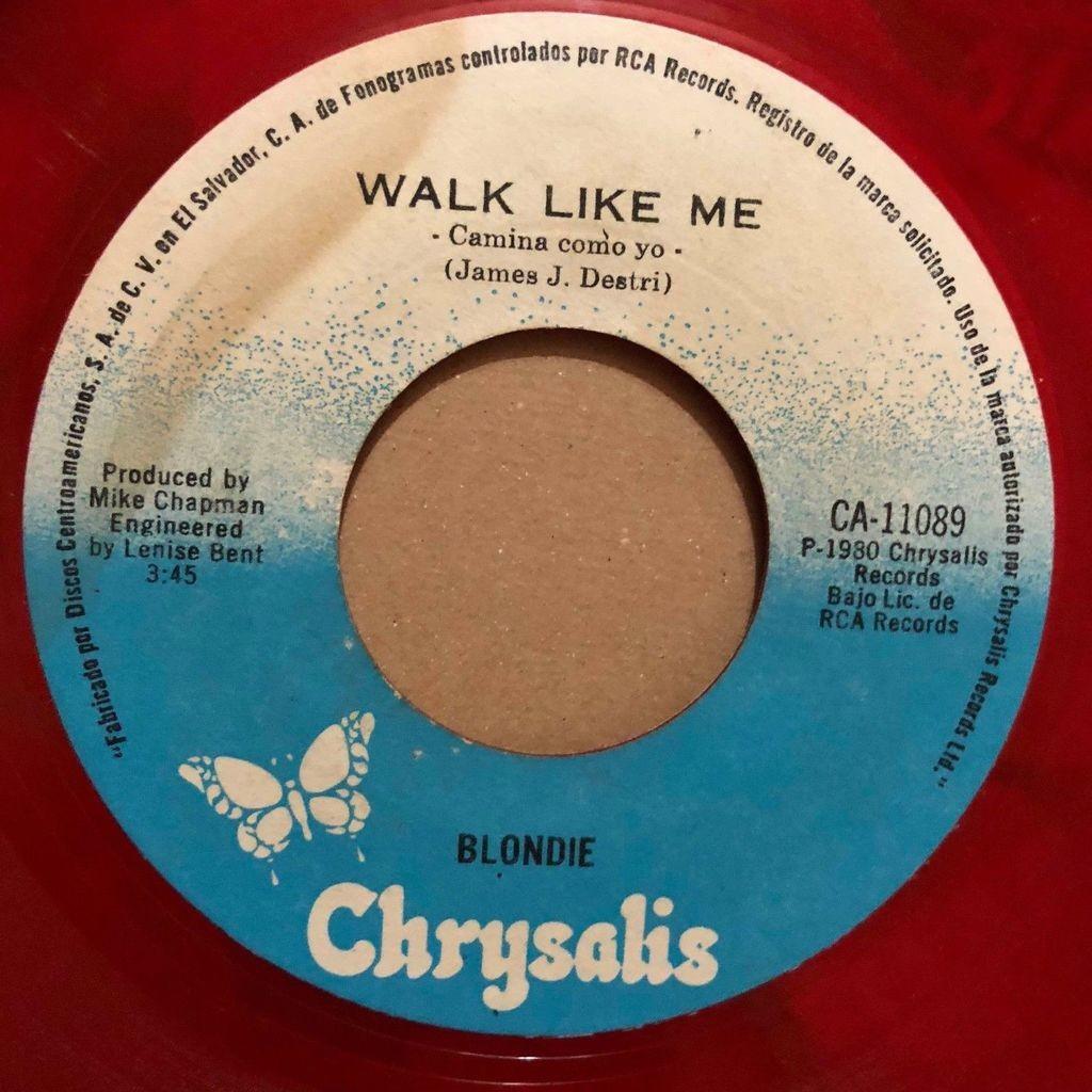 Blondie Extasis (Rapture) (El Salvador 1980 Ltd 2-trk 7single RED vinyl Company slv)