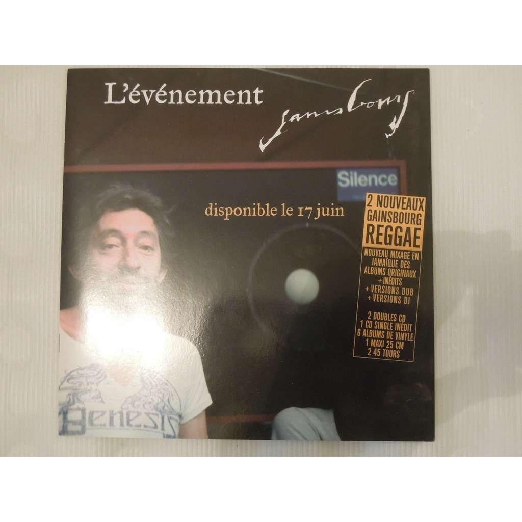 serge gainsbourg Lot cd promo plus recueil de photos pour l'album marilou reggae dub style