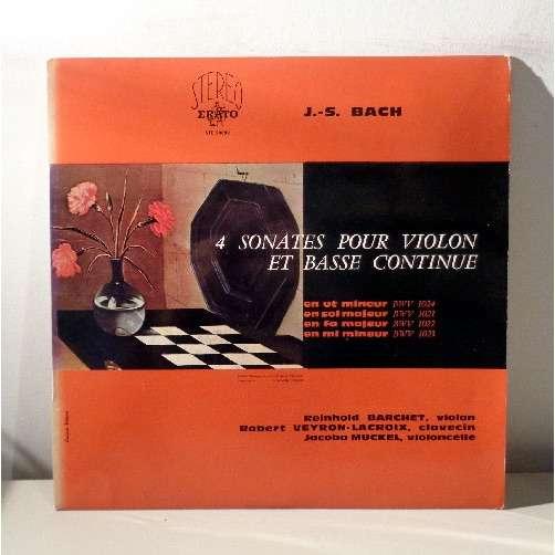 REINHOLD BARCHET & JACOBA MUCKEL JS BACH Les 4 sonates pour violon et basse continue