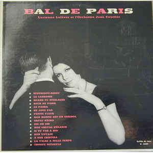 Jean Courtier Et Son Orchestre avec Lucienne Lefev Bal De Paris